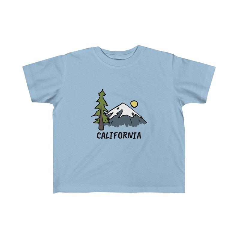 Mountain Drawing California Kid/'s T-Shirt California Toddler Shirt