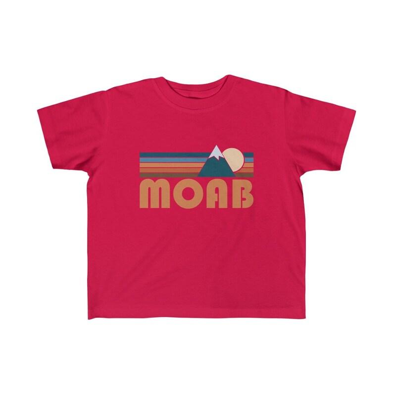 Moab Retro Mountain Moab Toddler T-Shirt Utah Toddler Shirt