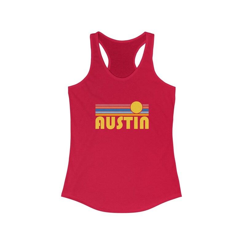 Texas Women/'s Tank Women/'s Racerback Austin Tank Top Austin