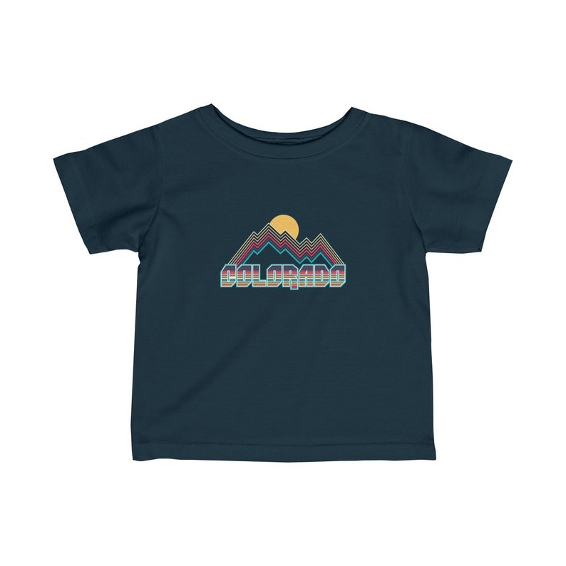 Unisex Retro Colorado Infant T-Shirt  Newborn Tee Colorado Baby Shirt