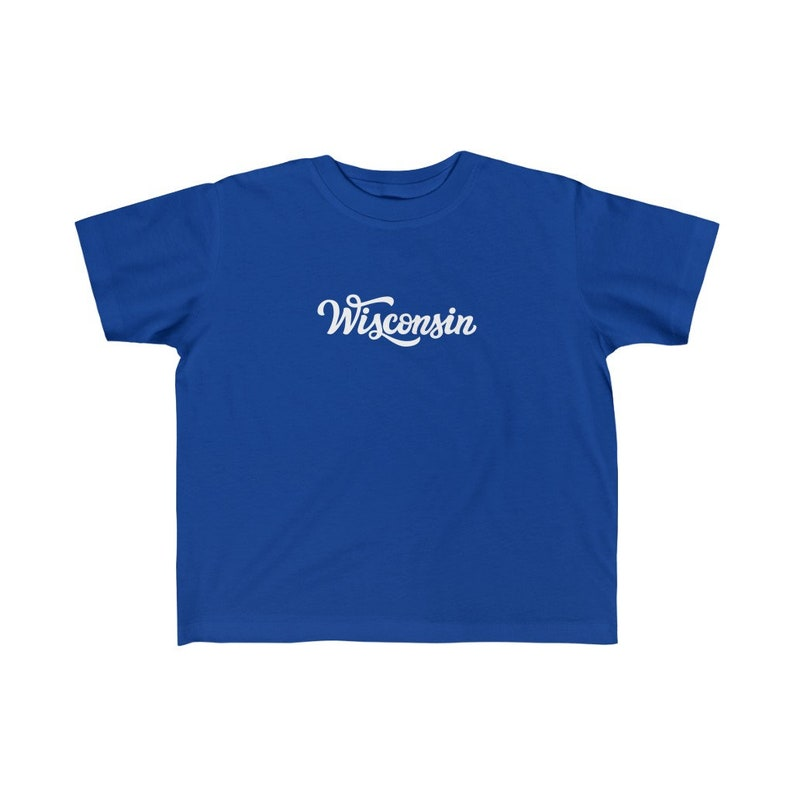 Hand Lettered Wisconsin Toddler T-Shirt Wisconsin Toddler Shirt