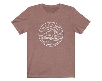 North Dakota Shirt State Design - Adult Unisex North Dakota T Shirt