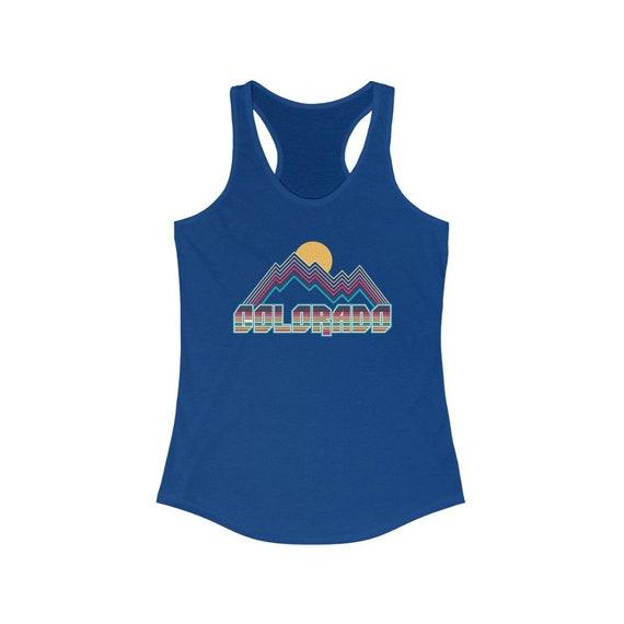 Colorado Racerback Gift For Her Gym Tank CO Mountain Girl Women/'s Racerback Ladies Top Colorado Tank Top Sublimation Colorado Girl