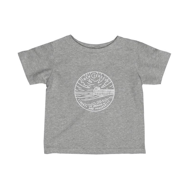 State Design Unisex New Jersey Baby T Shirt  Newborn Tee New Jersey Infant Shirt