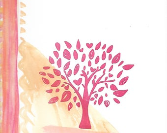 Lovely Colorful Tree Print