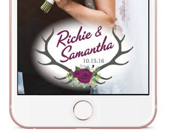 Rustic Wedding Snapchat Filter -  Custom Made