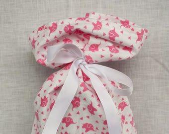 Cloth Gift bag - Elephant Gift Wrap - Reusable Gift Bag, Eco Friendly Gift Bag (Medium)