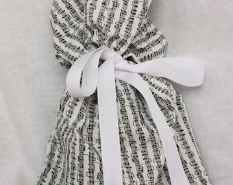 Cloth Gift bag - Musical Gift Wrap - Reusable Gift Bag, Eco Friendly Gift Bag (Medium)