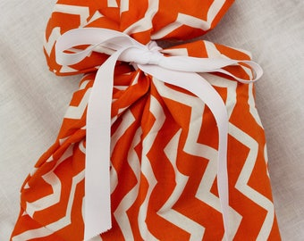 Cloth Gift bag - Chevron Gift Wrap - Reusable Gift Bag, Eco Friendly Gift Bag (medium)