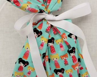 Cloth Gift bag - Nesting Dolls Gift Wrap - Reusable Gift Bag, Eco Friendly Gift Bag (small)
