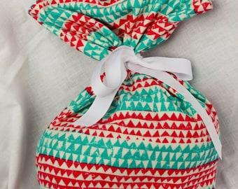 Cloth Gift bag - Funky Patterned Gift wrap -Reusable Gift Bag, Eco Friendly Gift Bag (Medium)