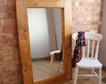 Large Rustic Farmhouse Country Handmade Mirror