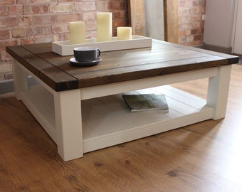 Terrific Large Square Coffee Table Onthecornerstone Fun Painted Chair Ideas Images Onthecornerstoneorg