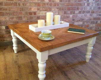 Large Square Coffee Table Etsy