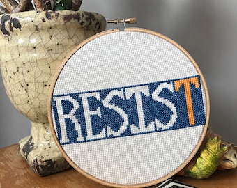 Resist Cross Stitch 6""