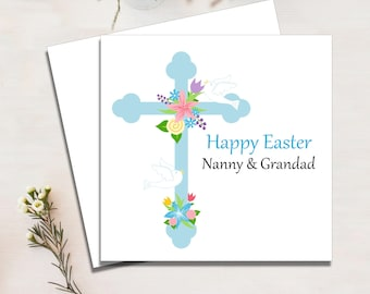 Religious easter cards etsy easter card personalised nanny and grandad mum and dad religious cards m4hsunfo