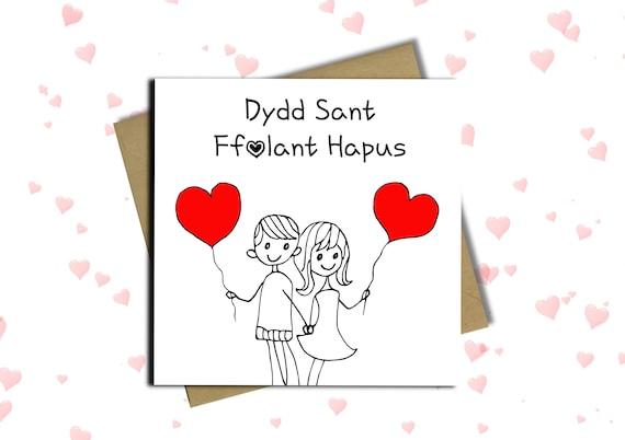 Welsh valentines day card welsh language cards etsy image 0 m4hsunfo