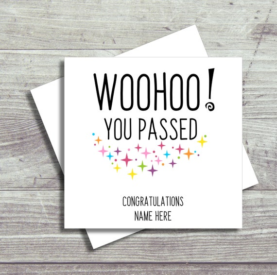 Personalised Exam Congratulations Card