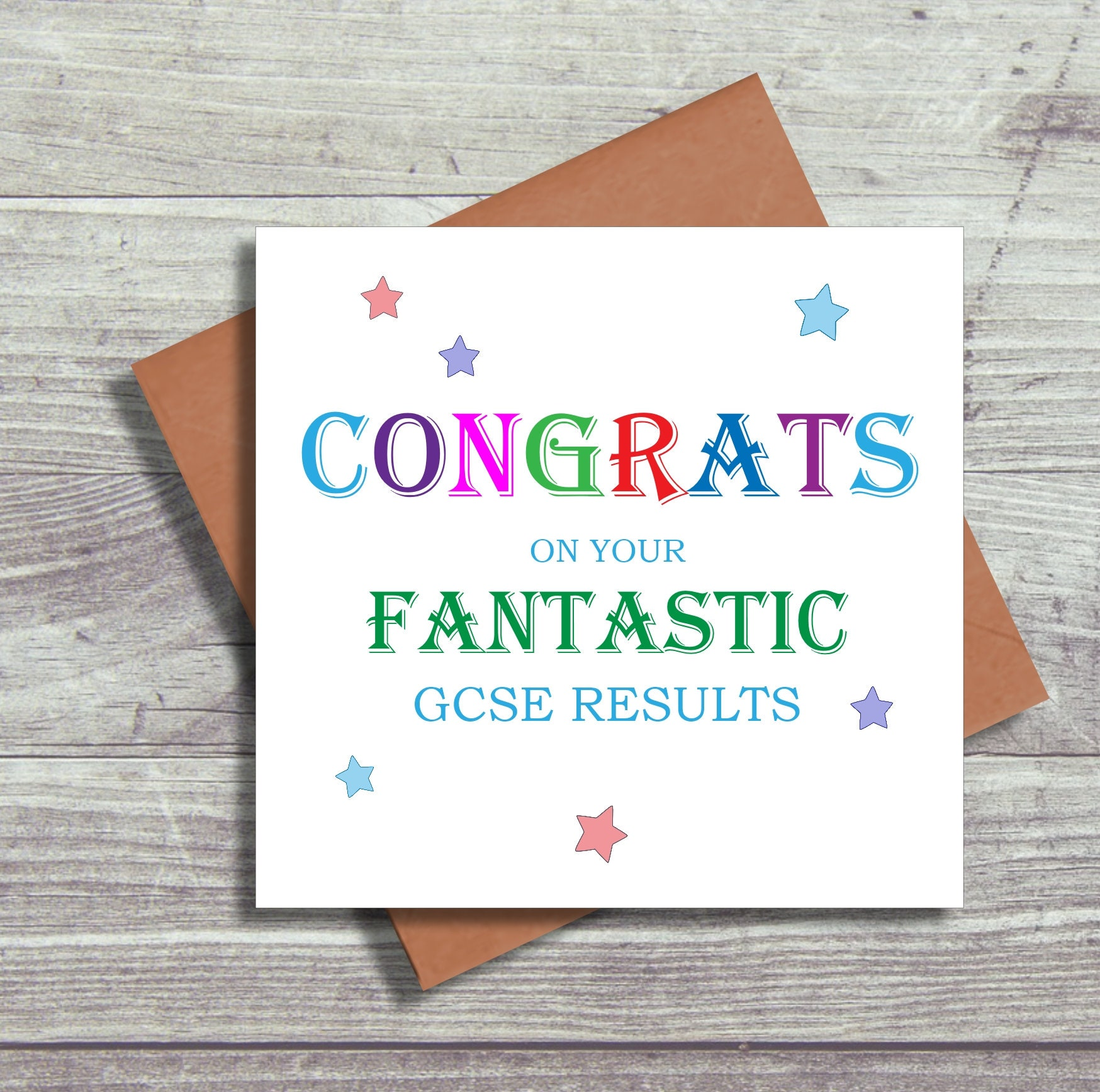 Exam Congratulations Card Well Done Cards Gcse Results Card Etsy