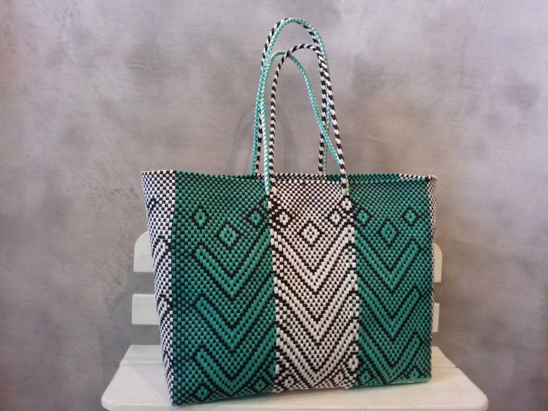 ff83636b8f Big bag woven. Mexican Handycraft bag handwoven with