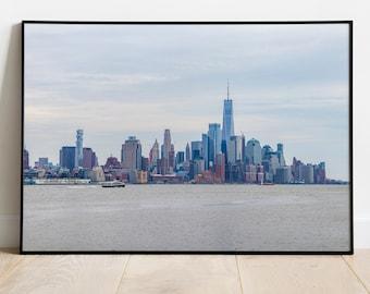 New York Skyline, Manhattan Wall Art, Wanderlust Decor, Home Decor, Photography, Print, Poster, Wall Art, Digital Download, NYC