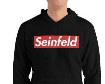d6c7fd268791 Seinfeld Red Box Logo Supreme Style Unisex hoodie