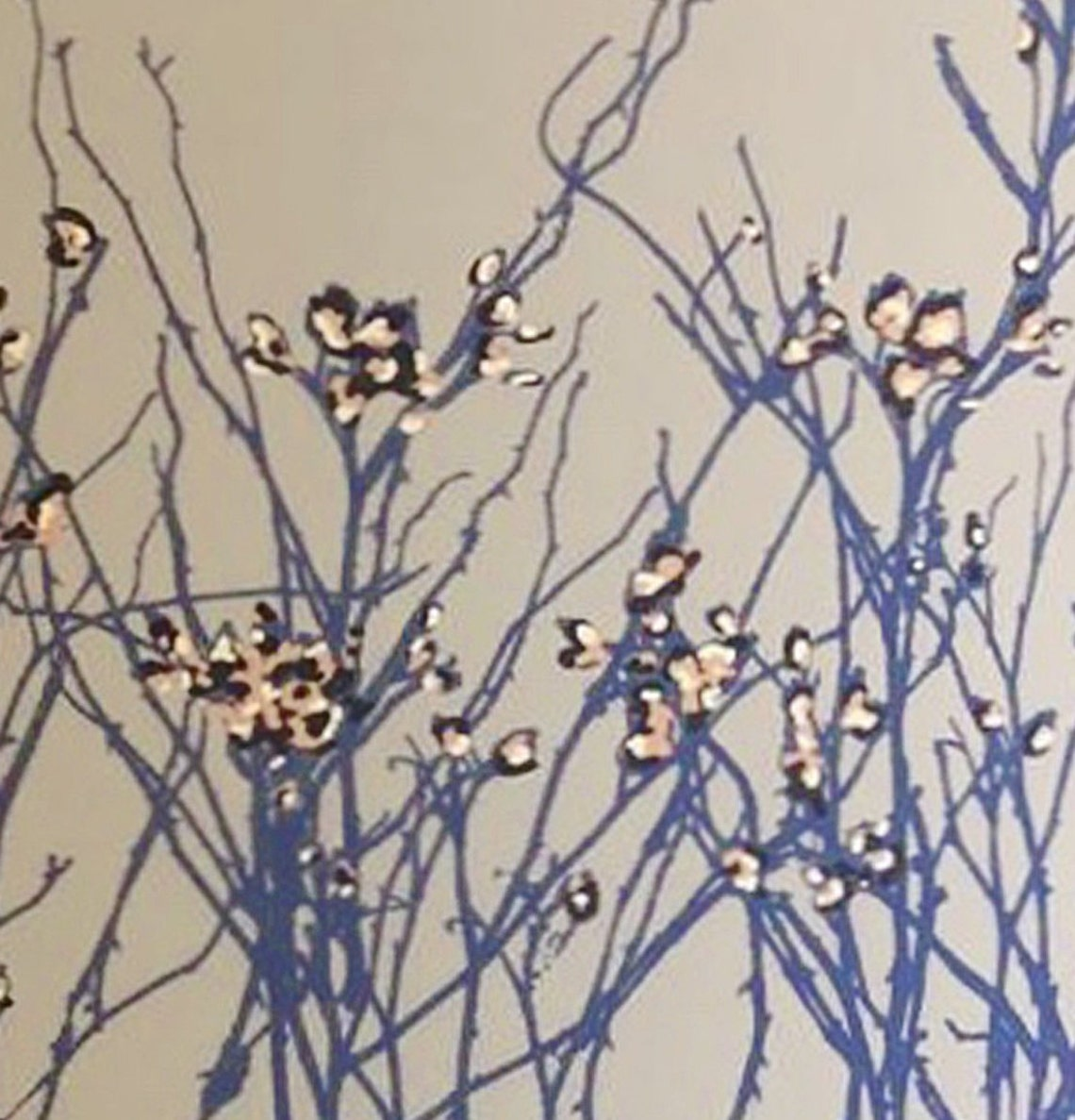 Drum Lampshade, Blue Hedgerow - Eclairage