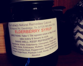 Elderberry Herbal Syrup Allergy/cough/cold/expectorant/antiviral