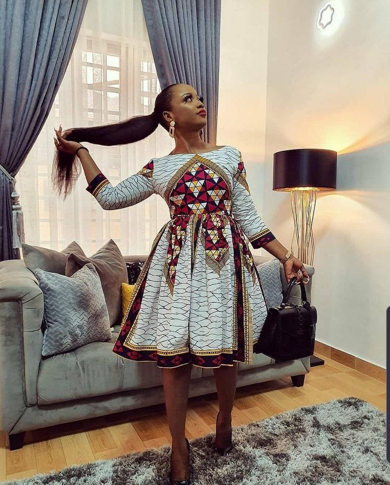 Bibi African skater dress  African dress for women