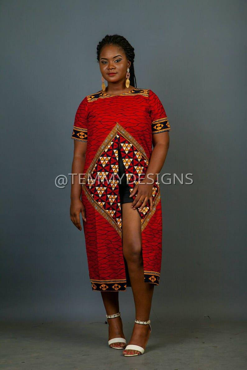 6b8d28fc66b Red African kimono   African dress   Ankara dress   African