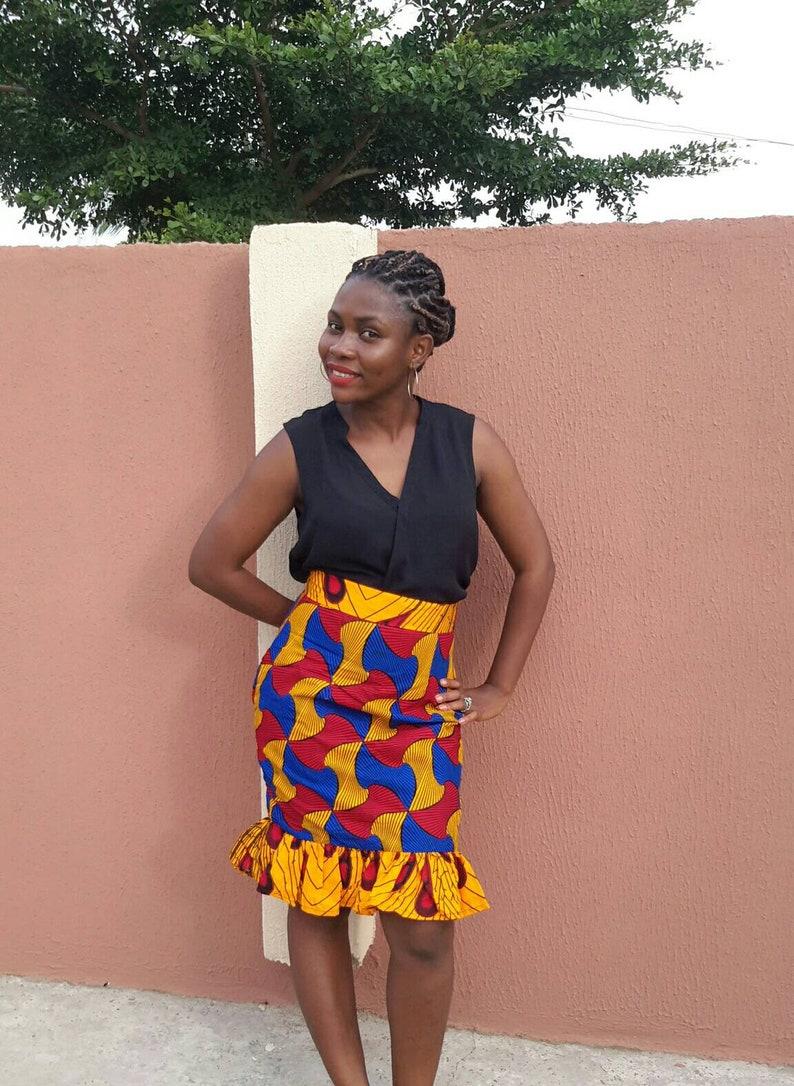 Beautiful African skirt  African pencil skirt  African print skirt for women