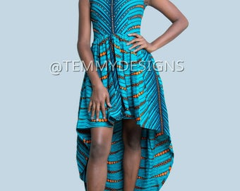 Embellished African prom dress, Ankara fabric, African fabric, African clothing, women clothing, dinner dress, Ankara dress for women