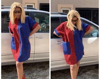 Eve African print dress / African wax dress / Ankara  dress / African print dress for women / African clothing / African dresses