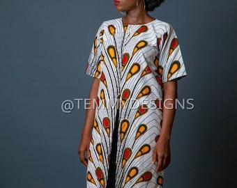 White African dress, African kimono, Ankara long dress, Ankara fabric, African fabric, African clothing for women, women clothing