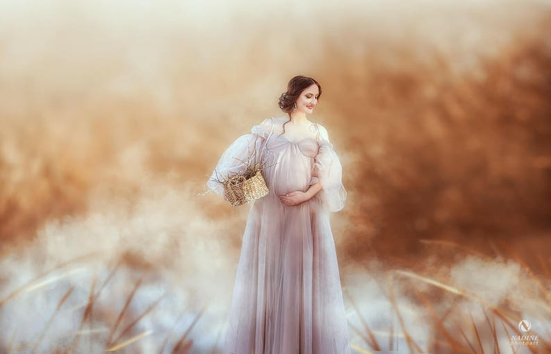 a486d71b0c LOUISA Maternity Dress for Photoshoot or Babyshower