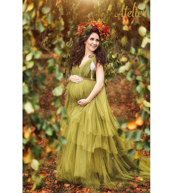 Gown Babybauch Dress Photography Babyshower Tulle Kleid for SERENA Tüllkleid GOWN Fotoshooting Maternity Bellydress Umstandskleid Photoshoot H646wqI