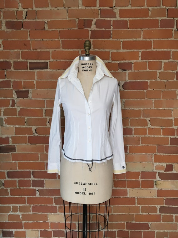 White Shirt From French Brand Cop-Copine Vintage