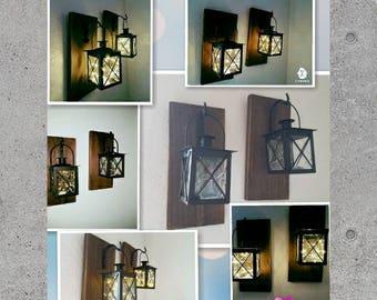 Lanterns, home decor, hanging scones, hanging lanterns, rustic decor, lantern scones, rustic wall scones, gifts, wall scones, office decor