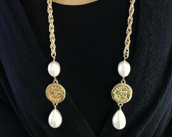 c07074d7fcb6f Cc pearl necklace | Etsy