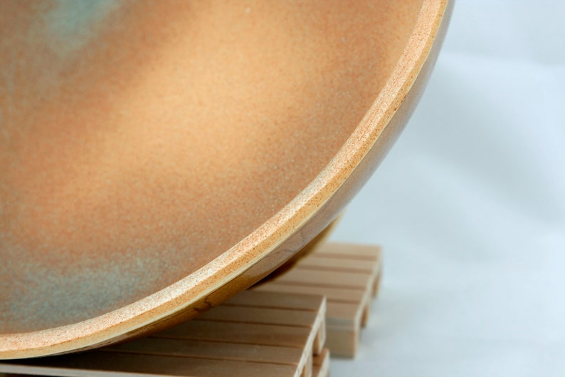 ceramic tray Stoneware centerpiece fruit bowl handmade decorative or food use salad bowl concave porcelain server