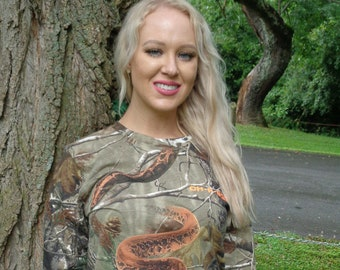 Oh-A-Boa - Long Sleeve Camo T-Shirt