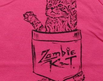 Zombie Kat - Kitten in Pocket - Ladies' Tank Top - Hot Pink