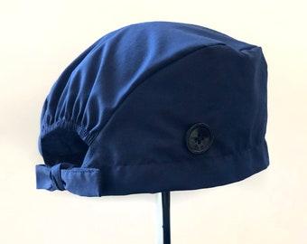 Navy Blue and Slate Blue Scrub Cap