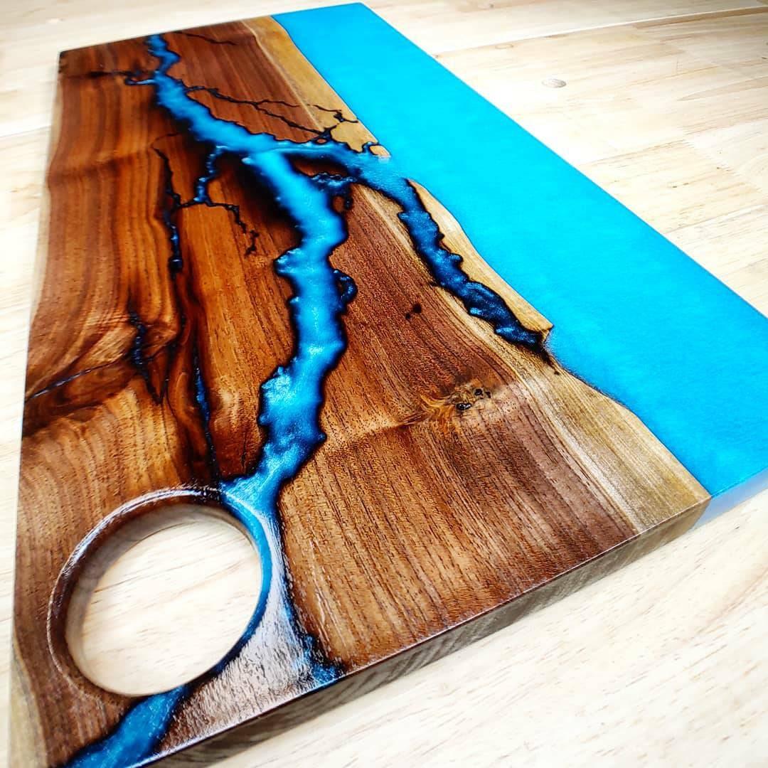 Charcuterie Board 23 215 11 Fractal River Board Walnut