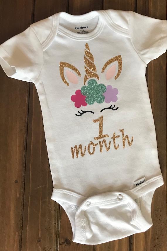 Milestone baby Onesie\u00aeNewborn Baby Gift Dinosaur Baby Onesies\u00ae Baby\u2019s 1st Year Milestone Onesies\u00aeBaby Shower Gift