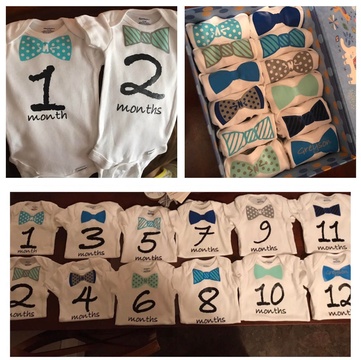 f65864a90 Baby boy month milestone onesies / monthly onesies / baby | Etsy