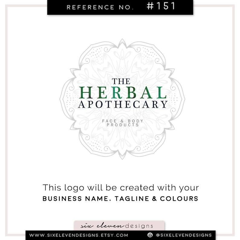 Logo Design, Branding Design, Premade Logo, Business logo, Blog Header,  Logo, Modern Logo, Botanical, Herbal Branding, Skincare, Wellness