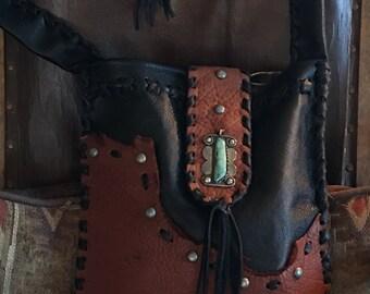 Handmade Bison and Deerskin Bag