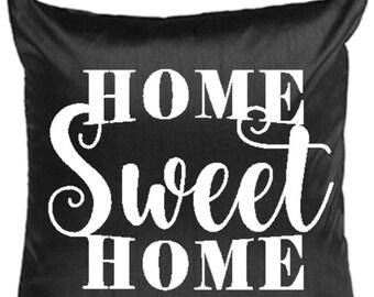 Home Sweet Home Pillow Cover - Home & Living - Home Decor - Housewarming Gift - Decorative Pillow - Hostess Gift - Designer Home Accessories