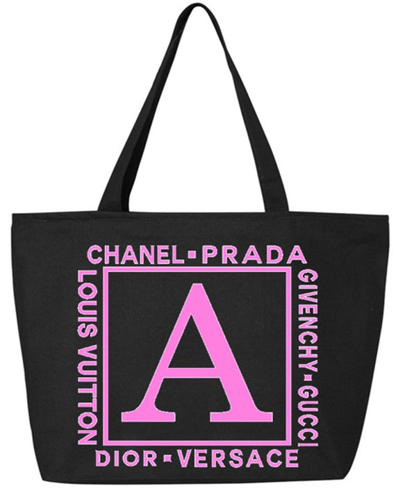 Monogram Bag Monogram Designer Tote Bag College Book Bag  2865cd6004e82